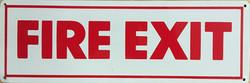 #1063  12x4 .020 Alum.-Fire Exit