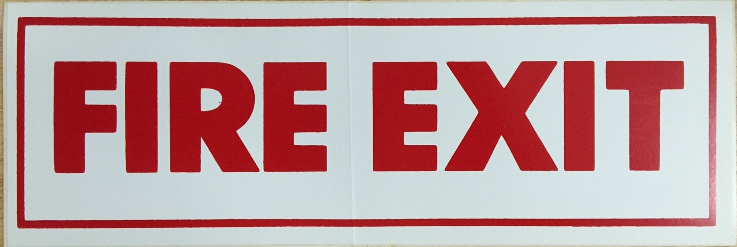 #359    12x4 Vinyl Sticker-Fire Exit