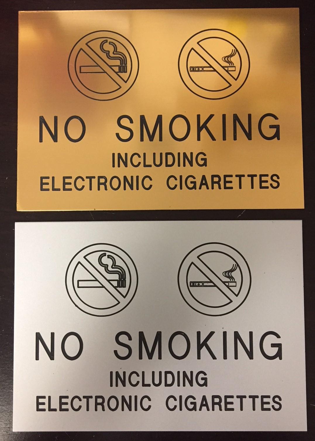 MATTE NO SMOKE-ECIG 5x7