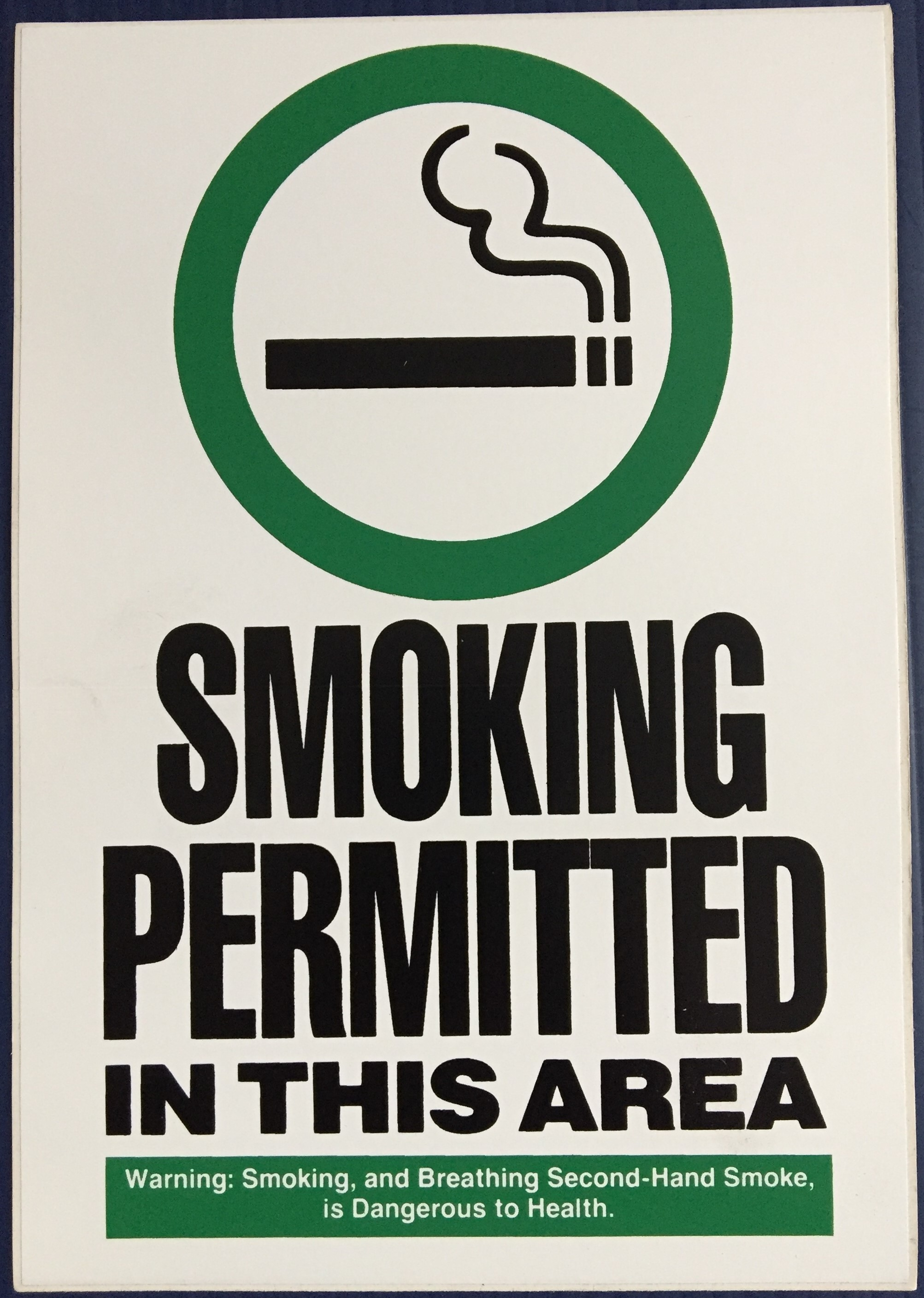 #CL207  6x9 Vinyl Sticker-Smoking Permit