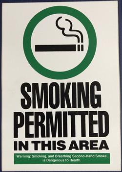 #CL207  6x9 Vinyl Sticker-Smoking Permit