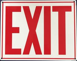 #1017  10x8 .020 Alum.-Exit