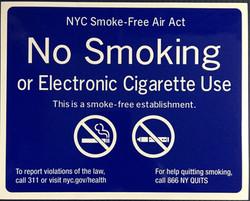 #345  10x8 Vinyl Sticker-Blue Smoke Free