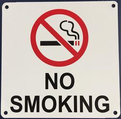 #1132  6x6 .020 Alum.-No Smoking