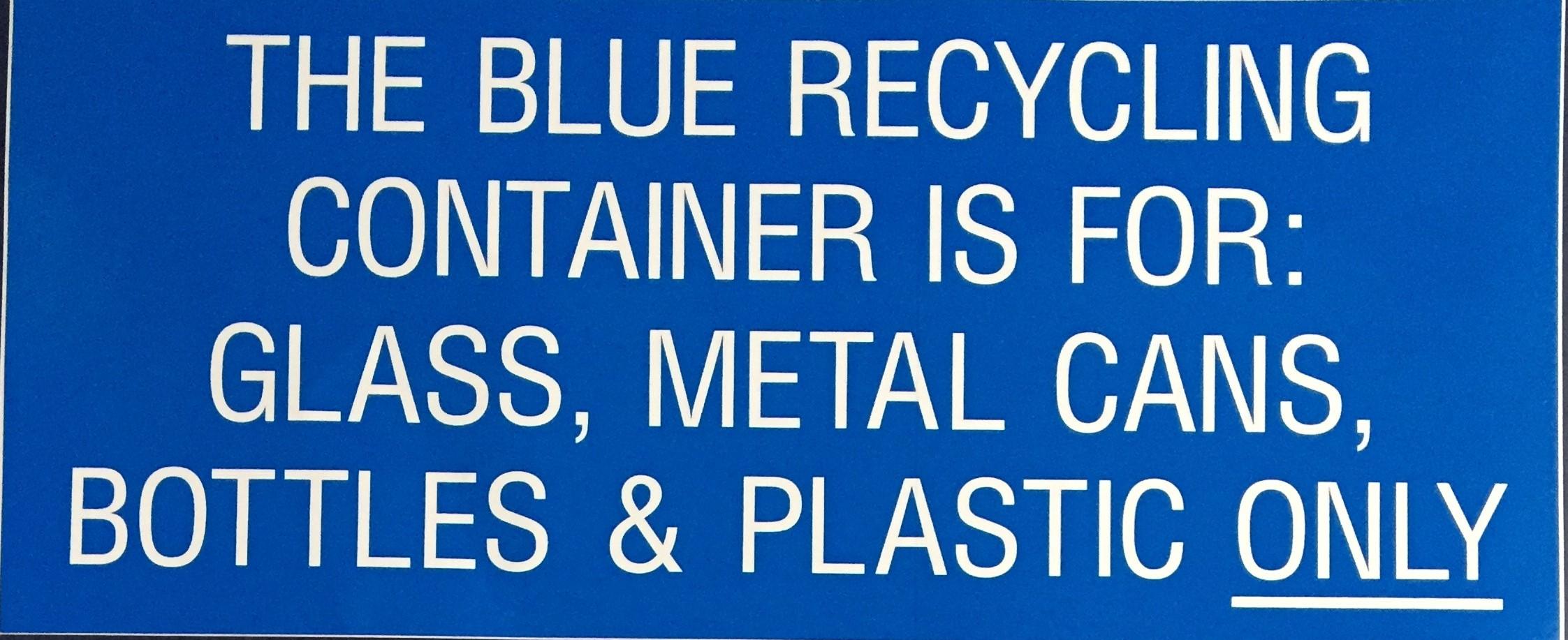 #338  12x5  Vinyl Sticker-Blue Container