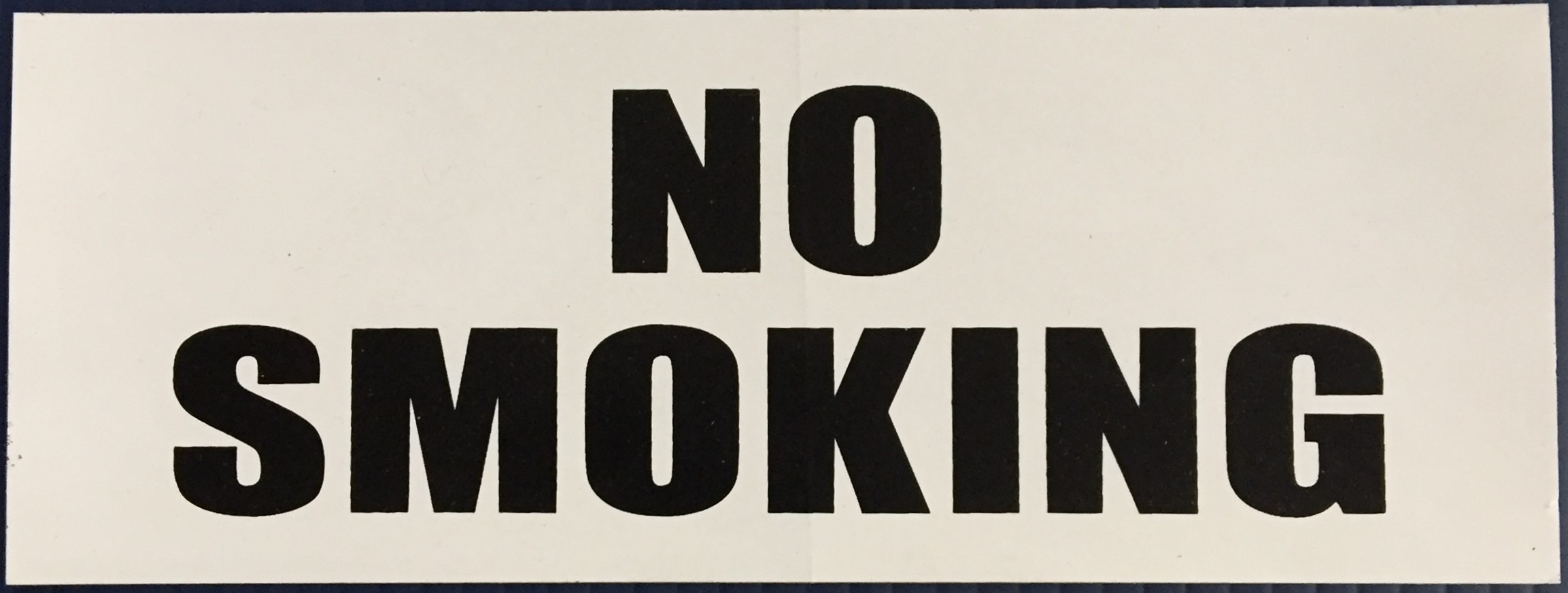 #343   8x3 Vinyl Sticker-No Smoking Blac