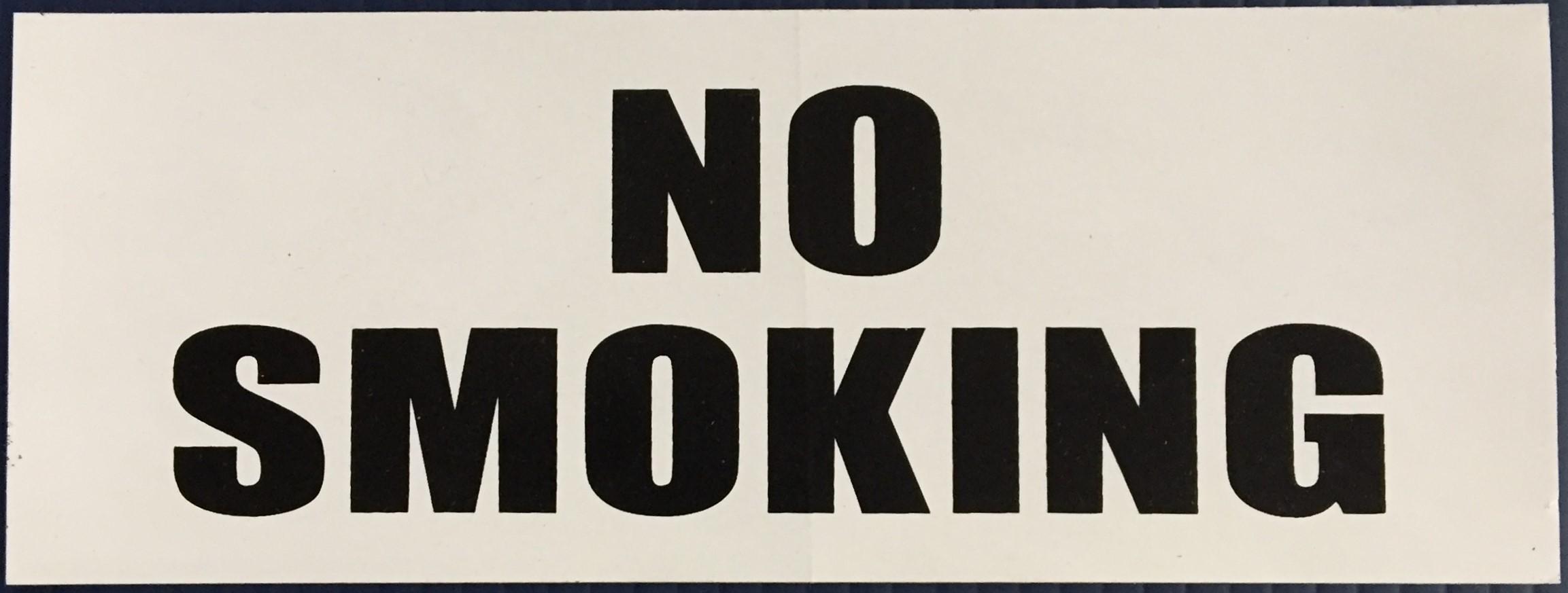 #343   8x3 Vinyl Sticker-No Smoking Blac