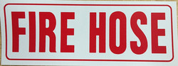 #364    8x3 Vinyl Sticker-Fire Hose