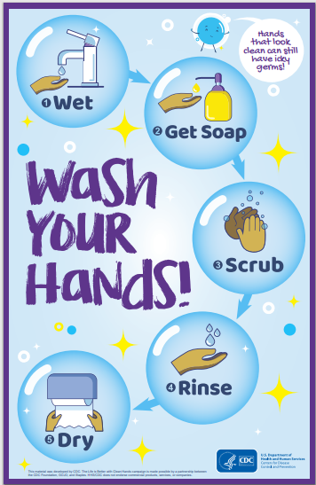 #CV906-wash your hands-graphic bubbles