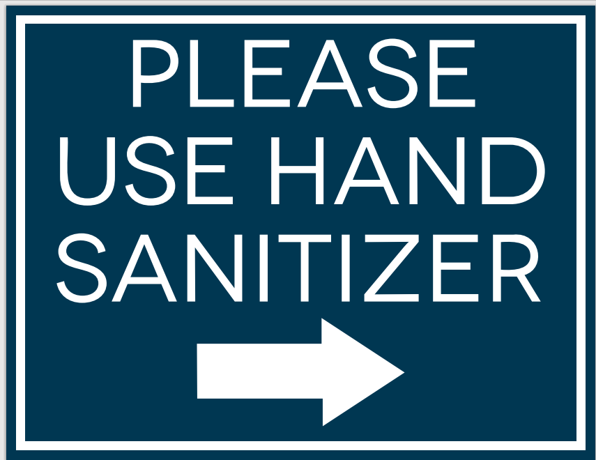 #CV905-please use hand sanitizer