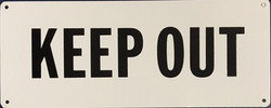 #CL101  10x4 .020 Alum.- Keep Out