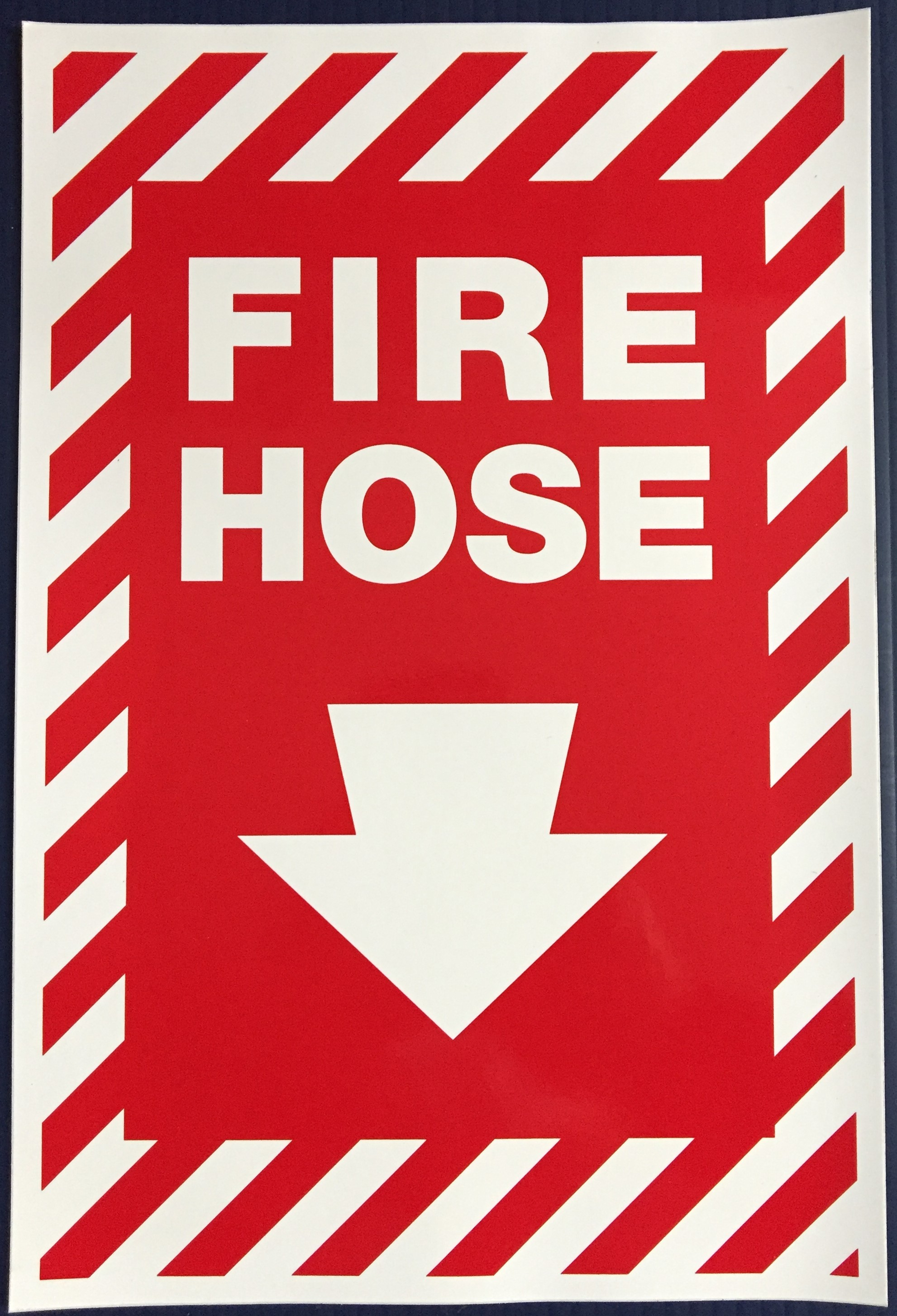 #376 8x12 Vinyl Sticker-Fire Hose arrow