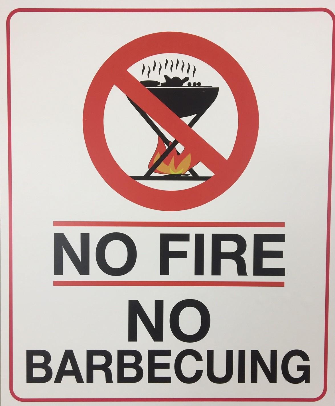 NO FIRE NO BBQ