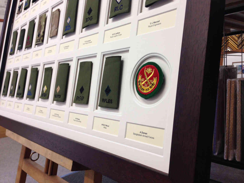 army display framing