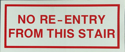 #362    7x3 Vinyl Sticker-No Re Entry Fr