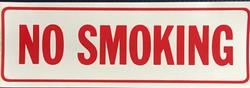 #1136  12x4 .020 Alum.-No Smoking