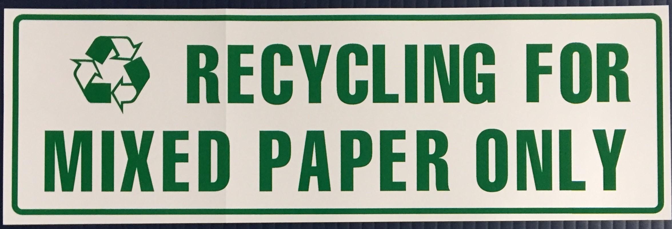 #335  12x4  Vinyl Sticker-Recycling Mixe