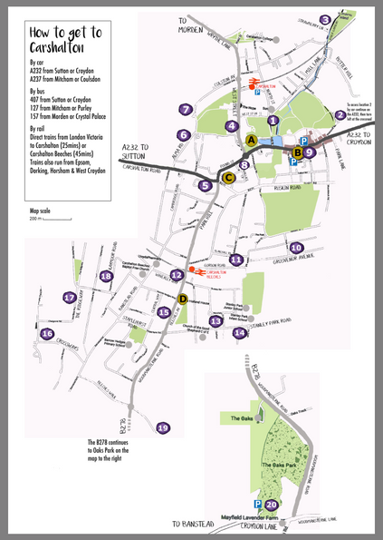 Map for Carshalton Artists Open Studios CAOS Eagle Framing