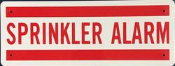 #1045  8x3 .020 Alum.-Sprinkler Alarm