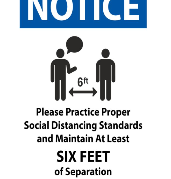 #CV928  NOTICE MAINTAIN 6 FEET.png