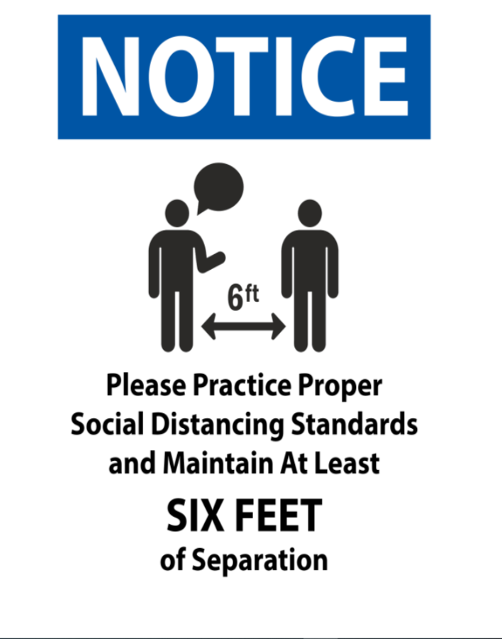 #CV928  NOTICE MAINTAIN 6 FEET.png