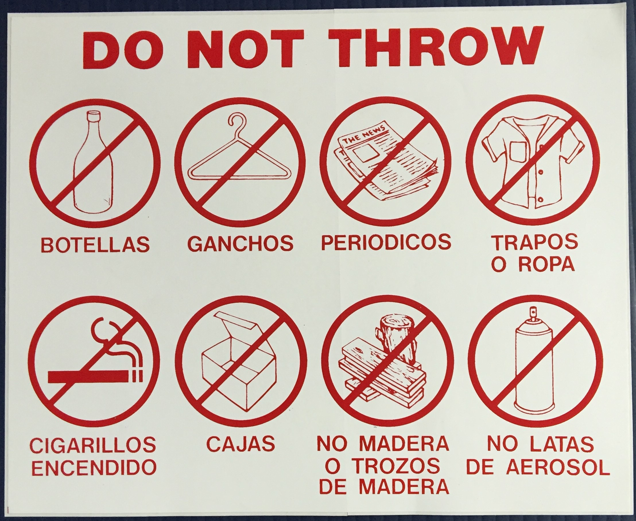 #341   11x7 Vinyl Sticker-Do Not Throw 8