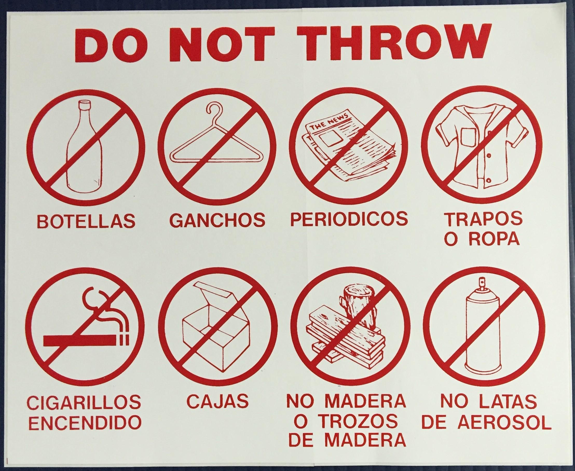 #341   11x7 Vinyl Sticker-Do Not Throw 8