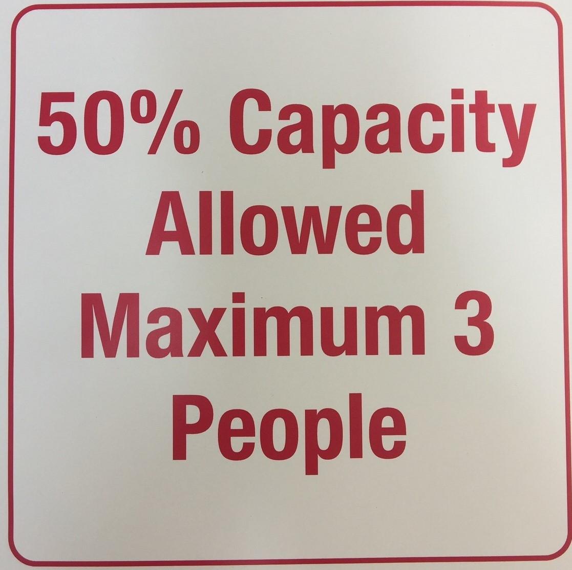 #CV937 -50% Capacity Elevator Sign 8x8