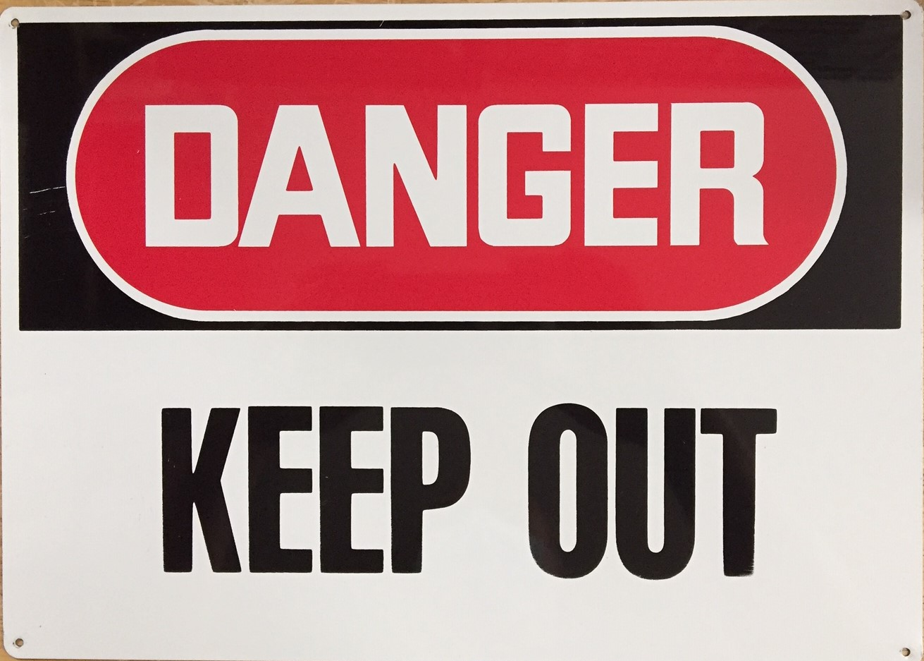 #188  14x10 .020 Alum.-Danger Keep Out