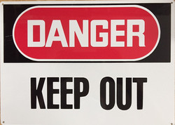 #188  14x10 .020 Alum.-Danger Keep Out