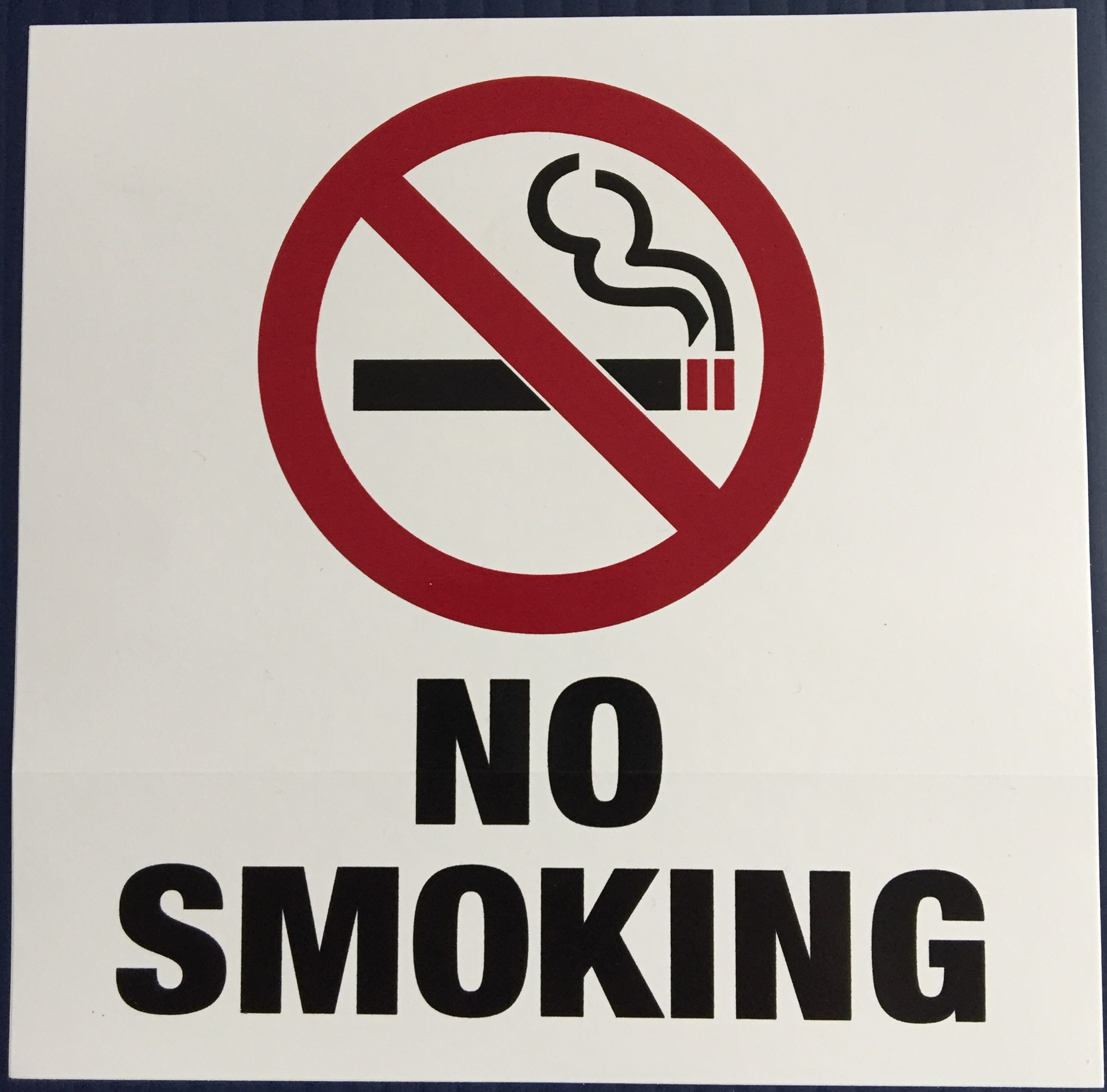 #342   6x6 Vinyl Sticker-No Smoking