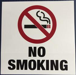 #342   6x6 Vinyl Sticker-No Smoking