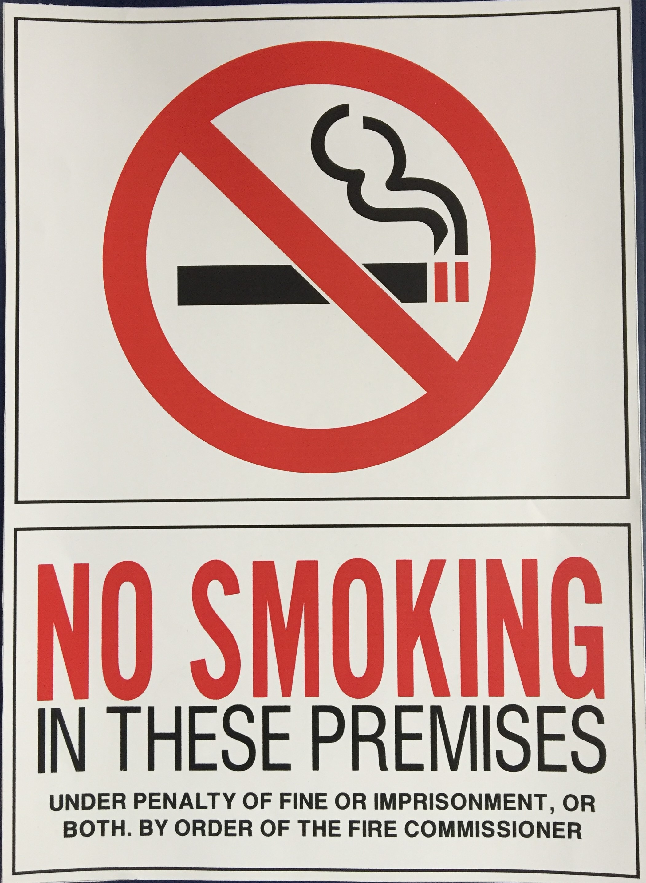#346  10x14 Vinyl Sticker-No Smoking In