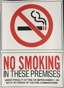 #346  10x14 Vinyl Sticker-No Smoking In
