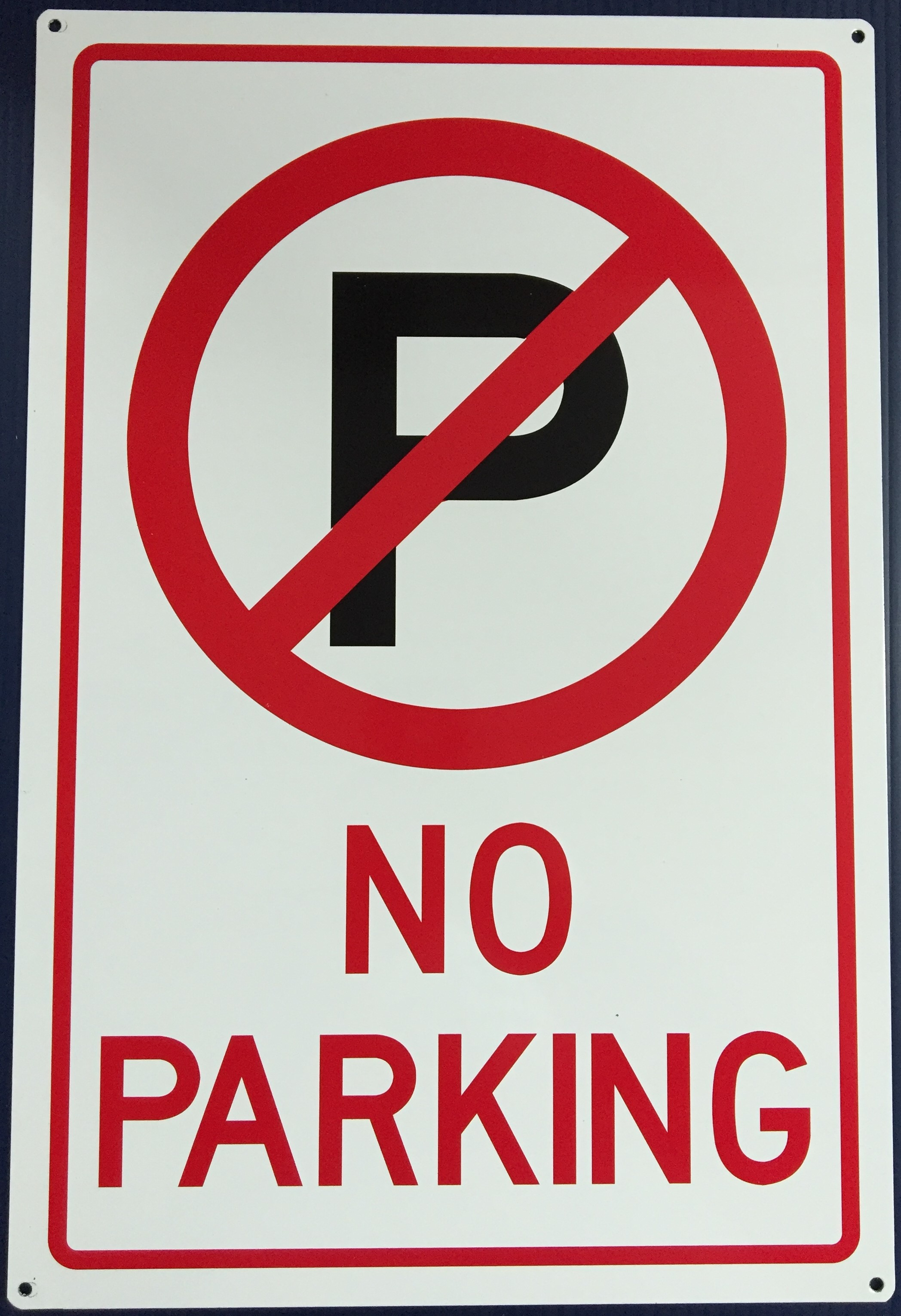 #1124 12x18 .040 Alum.-No Parking