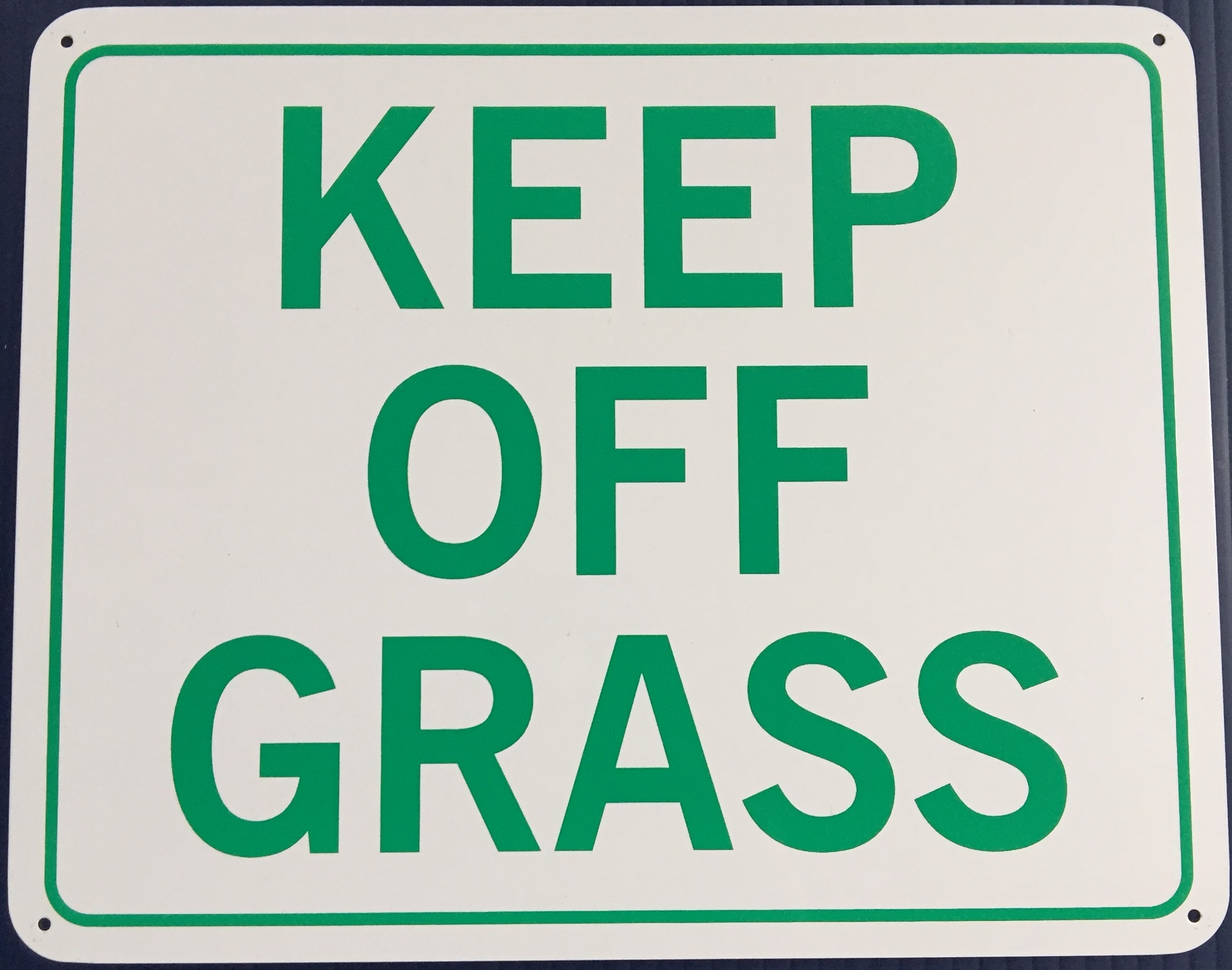 #1145  10x8 .020 Alum.-Keep Off Grass