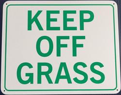 #1145  10x8 .020 Alum.-Keep Off Grass
