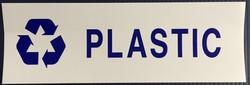 #336  12x4 Vinyl Sticker-Plastic Recycle