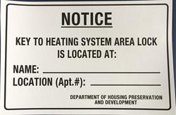 #321  9x6 Vinyl Sticker-Key To Heating S