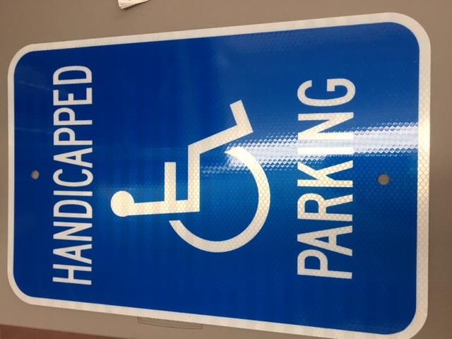 12 x 18 .063 Handic.Parking Reflec.