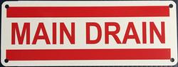 #1042  8x3 .020 Alum.-Main Drain