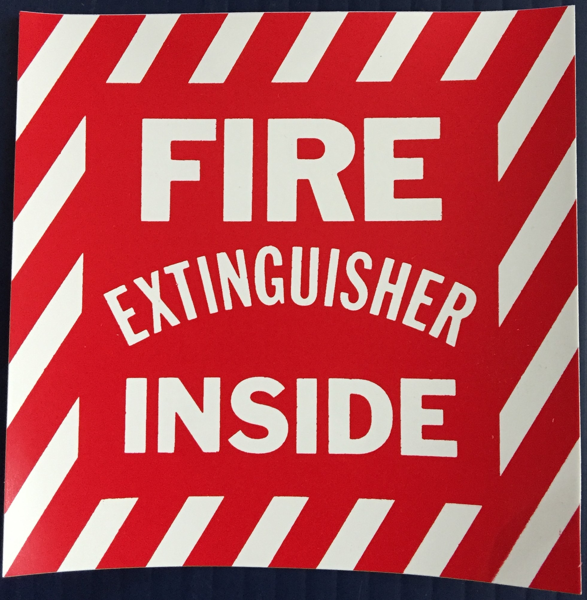 #377  4x4 Vinyl Sticker-Fire Hose Inside