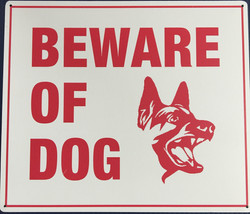 #1147  11.5x10 .020 Alum.-Beware Of Dog.