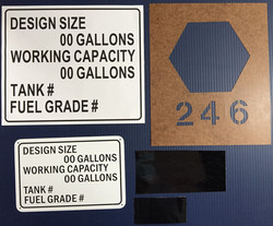 #901 Oil Tank Kits including Signs-Stick