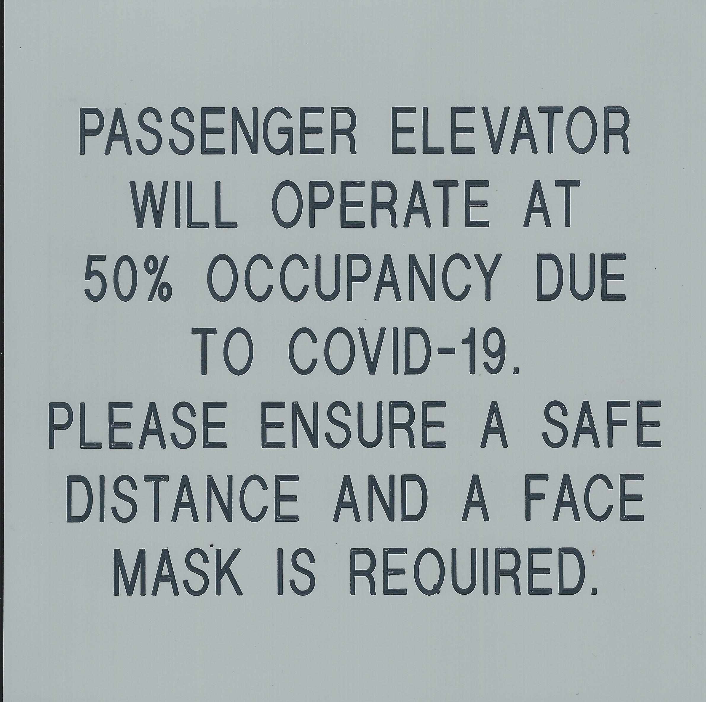 ELEVATOR CAPACITY 8X8