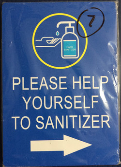 #CV902-help yourself to sanitizer