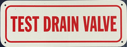 #1005  8x3 .020 Alum.-Test Drain Valve