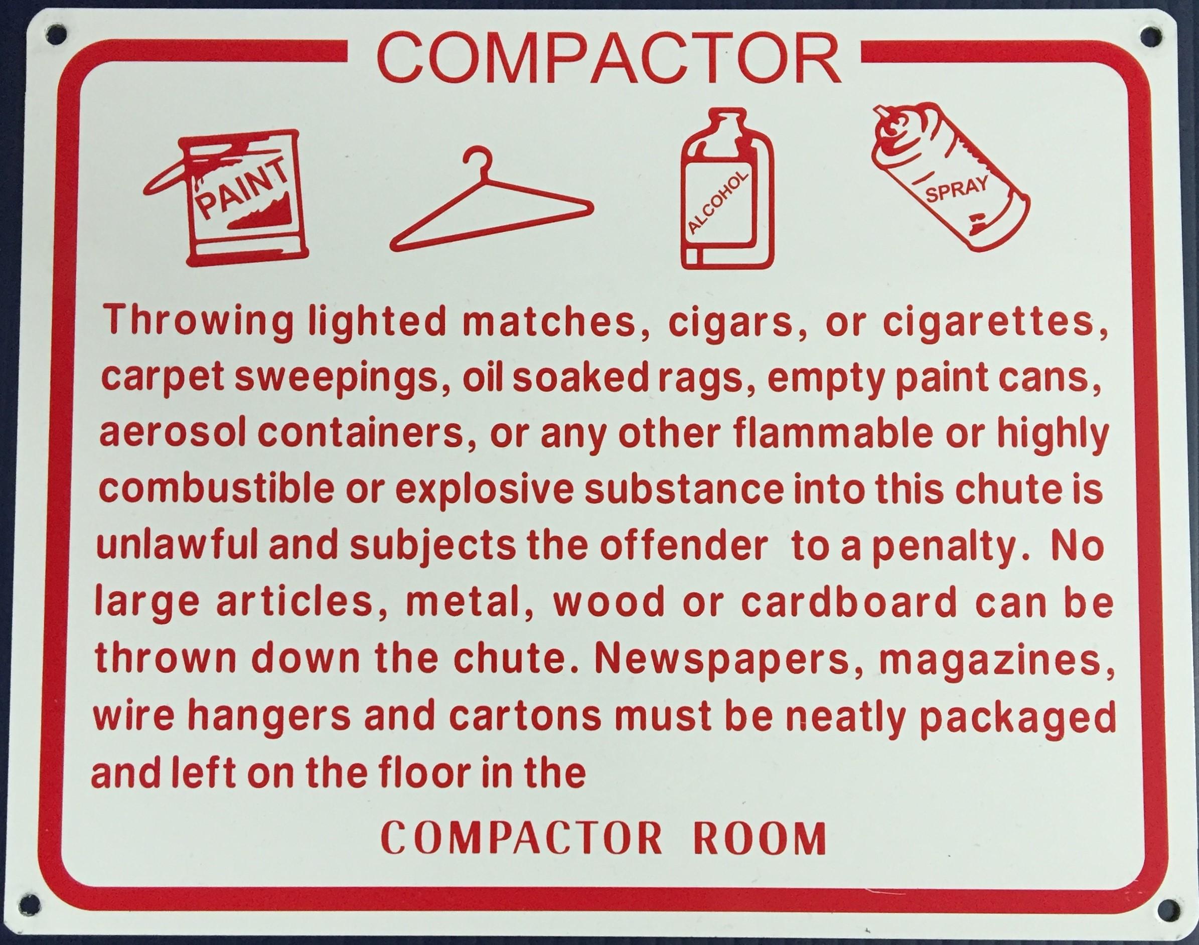 #115  10x6 .020 Alum.-Compactor Rules