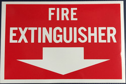 #361    12x8 Vinyl Sticker-Fire Extingui