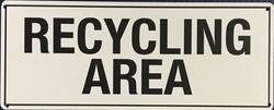 #CL109  10x4 .020 Alum.-Recycling Area